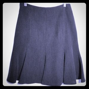 Anne Klein Dark Grey/ Pinstripe Skirt